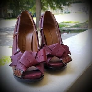 Marc Jacob's red leather heels size 7 gorgeous